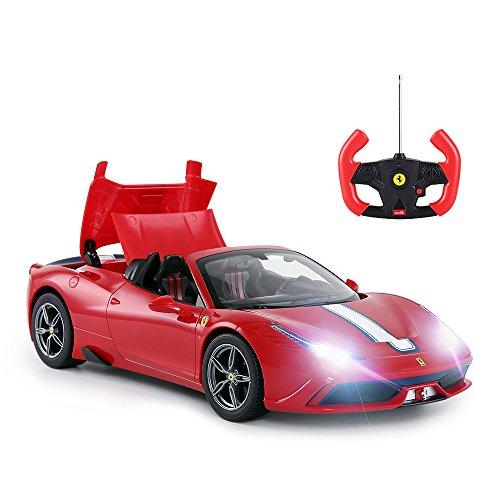 RASTAR RC Car | Radio Remote Control Car 1/14 Scale Ferrari 458 Special A, Model Toy Car for Kids, Auto Open & Close, Red