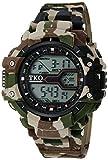 TKO ORLOGI Men's 'Durable Camouflage Sports Digital' Quartz Brown Camping Watch (Model: TK661BR)