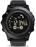 Men's Outdoor Sports Watch Bluetooth Smart Watch 50M Water Resistant Pedometer Calorie Counter Stopwatch Rubber Strap