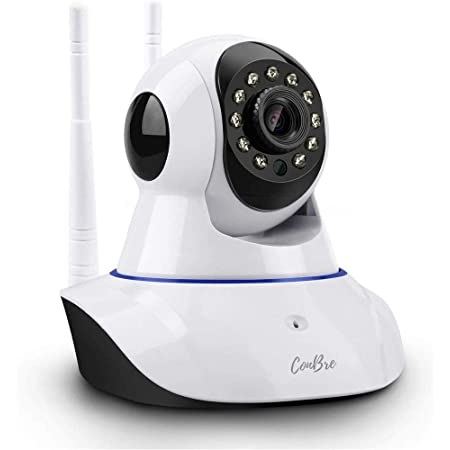 Conbre MultipleXR2 Pro {Upgraded} HD Smart WiFi Wireless IP CCTV Security Camera   Night Vision   2-Way Audio   Support 64 GB Micro SD Card Slot