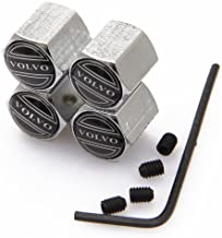 CzlpV Anti-theft Metal Car Wheel Tyre Tire Stem Air Valve Cap For Volvo