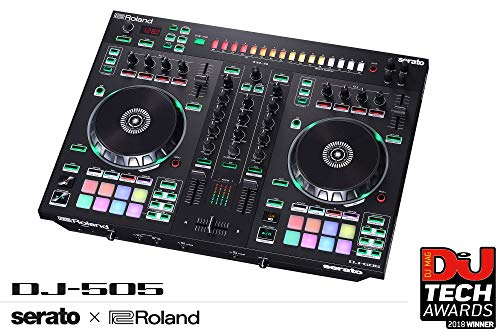 Roland DJ Controller, Two-Channel, Four-Deck (DJ-505)