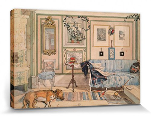 1art1 Carl Larsson - Mein Wohlfühl-Zimmer, 1894 Bilder Leinwand-Bild Auf Keilrahmen | XXL-Wandbild...