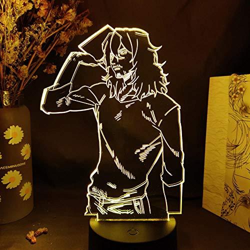 Aizawa Shouta - Lámpara 3D de ilusión óptica 3D para niños, decoración LED, lámpara de mesa para niños, 7 colores táctiles