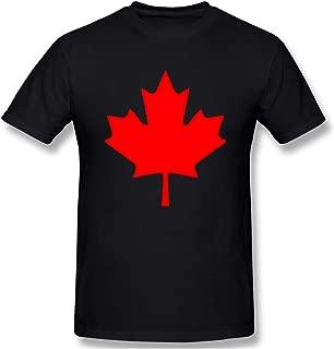 Mens Canadian Maple Leaf, Canada Pride Fashion T Shirts Black