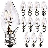 (12 Pack) Salt Rock Lamp Bulb, 15 Watt Light Bulbs for Himalayan Salt Lamps & Baskets, E12 Base Incandescent Bulbs, 15 Watt Replacemen Light Bulbs