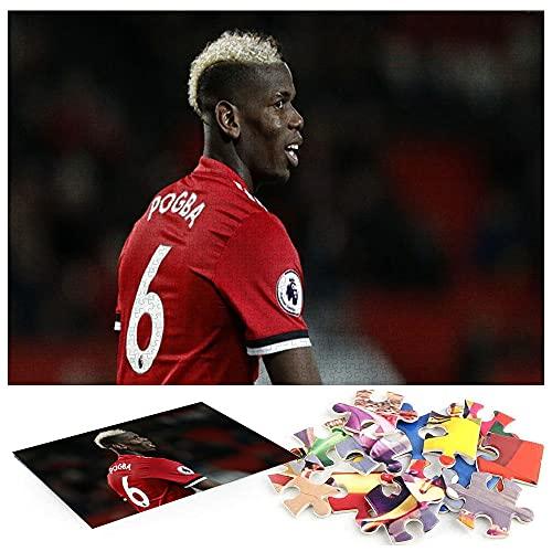 Puzzle 1000 Teile Paul Pogba Manchester United Fußball Puzzle für Erwachsene und Kinder ab 14 Jahren