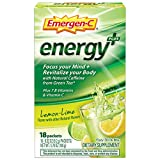 Includes 18 single-serving packets (032 oz each) of Emergen-C Energy+ in Lemon-Lime flavor Focus your mind and revitalize your body with Natural Caffeine from Green Tea* This power-packed formula has immune-supporting Vitamin C to help support your o...