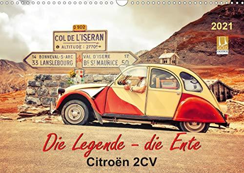 Die Legende - die Ente, Citroën 2CV (Wandkalender 2021 DIN A3 quer)