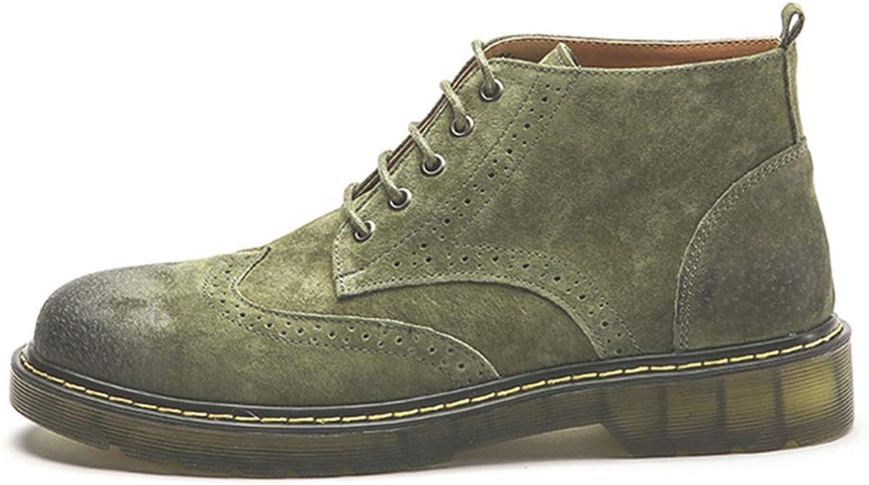 QIDI Martin Stiefel Mnner Flach rutschfest Verschleifest Warm Bleiben Stiefelies (Farbe   T-3, gre   US7.5 EU38 UK5.5)