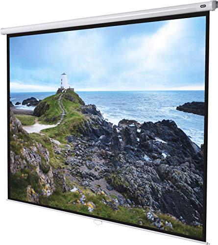 celexon manuell ausziehbare Heimkino- und Business-Beamer-Leinwand 4K und Full-HD Rollo-Leinwand Economy - 240x180cm - 118' - 4:3