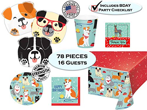 Sale!! Puppy Dog Party Pups Birthday Party Supplies - Dog Themed Birthdays - Dog Shaped Dinner Plate...