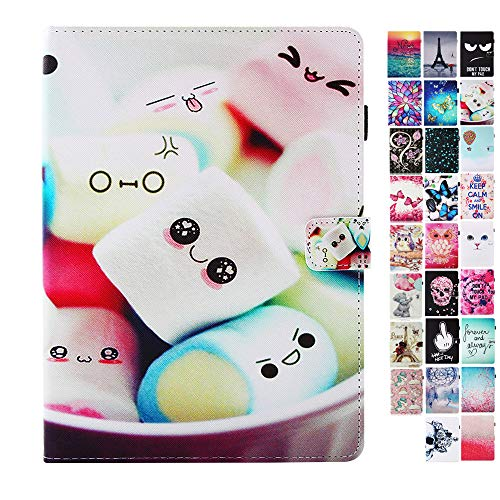 Coeyes Case Compatible for Tablet Samsung Galaxy Tab A 10.1 Inch SM-P580 / P585 Flip Cover Leather Wallet with Card Holder Slot Silicone Bumper - Towel