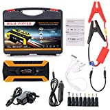 Autone 89800mAh 4 USB Portable Car Jump Starter Pack Booster Charger Battery Power Bank, UK Plug