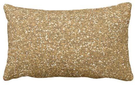 perfecone - Funda de almohada para sofá y coche (53 x 13 cm), color dorado