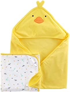 Child of Mine by Carter's Neutral Hooded Towel and Bath Towel Set (Baby Boys or Baby Girls Unisex)