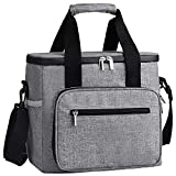 DYD Collapsible Cooler Bag, Insulated 24/48 Can Soft Sided Beach Cooler Lightweight Portable Car Cooler Tote with Large Capacity for Outdoor Travel Picnic Camping Shopping