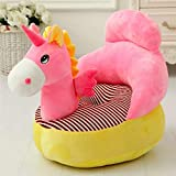 THD (Tuteja Home Decors) Unicorn Shape Baby Soft Plush Cushion Baby Sofa Seat or Rocking Chair for Kids (Red, Standard Size)