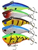 Best Smallmouth Bass Lures - Beoccudo Lipless Crankbait Rattle Fishing Lures for Bass Review