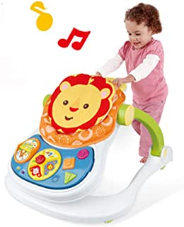 4 in 1 Kids Educational Push Toy Activity Center, Multifunctional Removable Play Walker, Material Safety and Colorful, Lea...