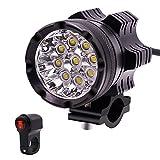 MTSBW Scheinwerferlampe des Motorrad-LED 6000LM 9 Mit Wasserdichtem Schalter 45W
