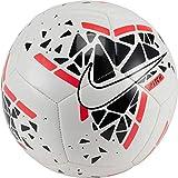Nike Pitch Soccer Ball Balones de fútbol de Entrenamiento, Unisex-Adult, White/Black/Laser Crimson/White, 4