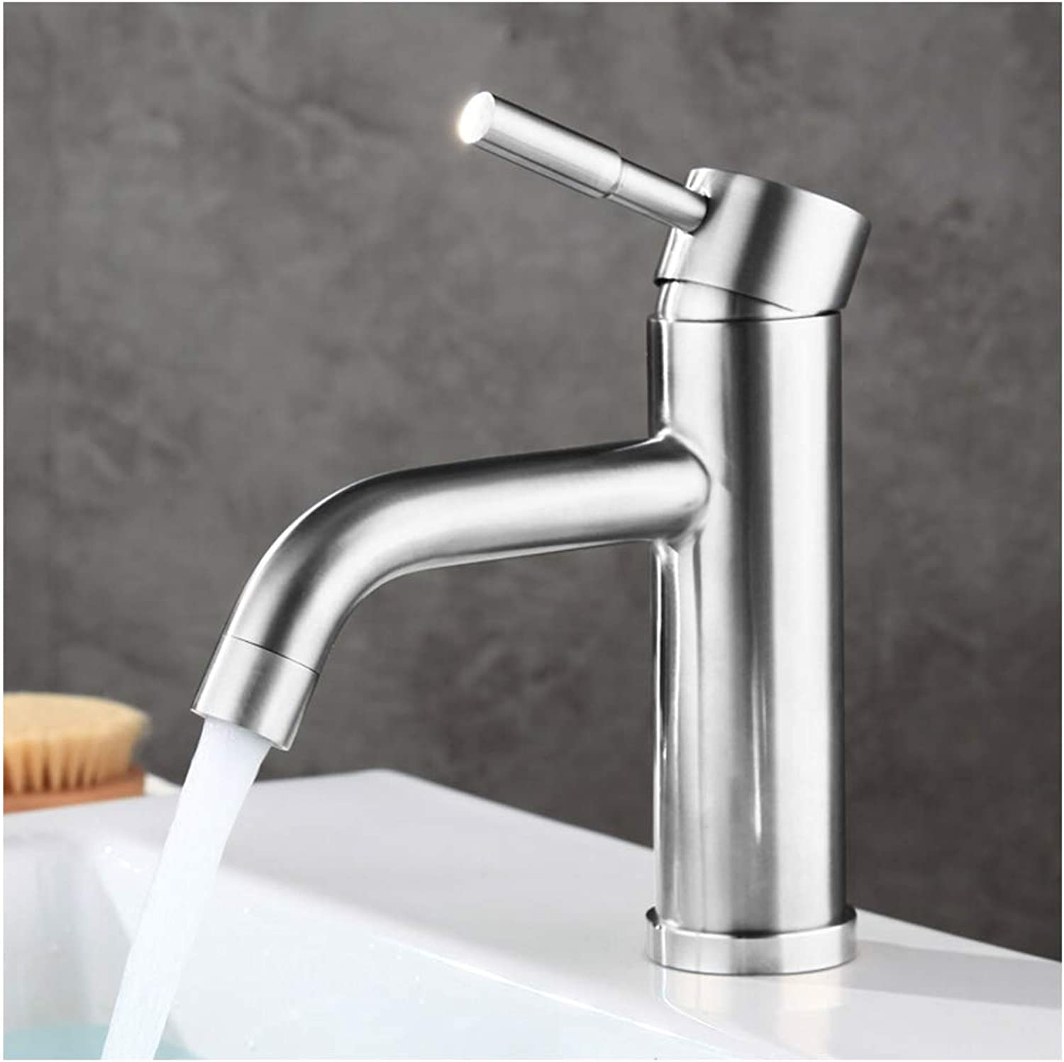 ZZKK 304 stainless steel hot and cold kitchen sink faucet kitchen faucet greenical faucet wash basin faucet thickening bathroom faucet basin faucet for bathroom kitchen,8307