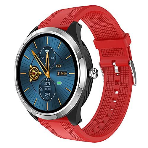 ZGZYL X3 Smart Watch Hombres con La Presión Arterial De Oxígeno En La Sangre PPG + ECG Heart Rate Monitor Ladies Fitness Tracker Pedómetro Reloj Deportivo A Prueba De Agua para iOS Android,B