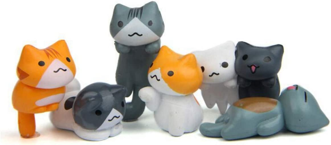 6 Pcs Miniature Lucky Cat Figurines Cute Spasm price Challenge the lowest price of Japan ☆ DIY C Toys Figures