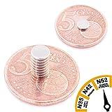 Brudazon | 10 Mini Scheiben-Magnete 5x1mm | N52 stärkste Stufe - Neodym-Magnete...