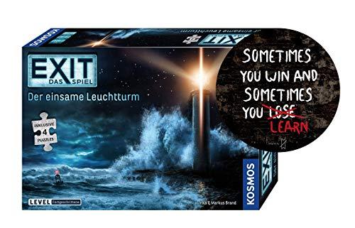 Collectix Kosmos 698881 EXIT - Das Spiel + Puzzle: Der einsame Leuchtturm (Level: Fortgeschrittene) + Sometimes You Win.. Sticker