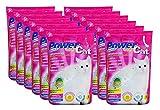 Powercat Lot de 12paquets de litière pour chat, 5l chacun, soit 60l au total, au silicate