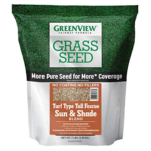 GreenView 2829347 Fairway Formula Grass Seed Turf Type Tall Fescue Sun & Shade Blend, 7 lb