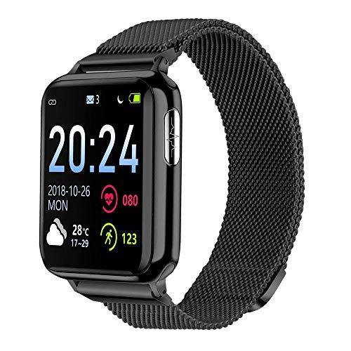 Fitness Tracker, Smartwatch V5 Pressione Sanguigna Cardiofrequenzimetro ECG PPG IP67 Impermeabile Diagnosi AI Orologio Intelligente per Uomo Donna