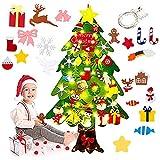 Shengruili Fieltro Árbol de Navidad,Juego de árboles de Navidad de Fieltro34 Piezas de...