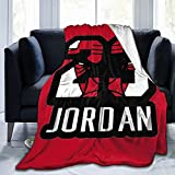 Jordan Basketball 23 Michael Flannel Abstract Throw Blanket, Super Soft Fleece Decorative Blankets, Warm, Cozy, Plush, Fuzzy Microfiber Blanket for Couch Bed Sofa