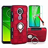 Lozetor Moto G7 Power Case with HD Screen Protector, Dual Layer Hybrid Armor