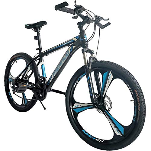 FZ-Kostum 26 Inch Front Suspension Mountain Bike Men's Bicycle 21-Speed Adjustable Seat MTB with High Carbon Steel, Aluminum Alloy Wheels