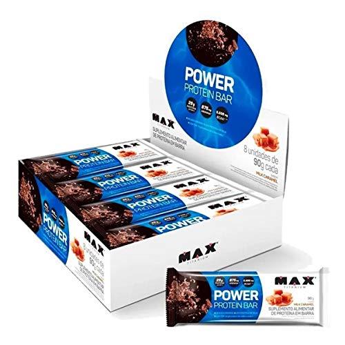 Power Protein Bar (8 Unid - 90G) - Sabor Milk Caramel, Max Titanium