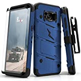 Zizo Samsung Galaxy S8 Case, [Bolt Series] w/ [Galaxy S8 Screen Protector] Kickstand [12 ft. Military Grade Drop Tested] Holster Belt Clip - Galaxy S8