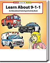 Learn About 911 Kid's Educational Coloring & Activity Books in Bulk (25-Pack)