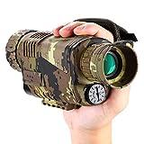 BOBLOV Monocular Visión Nocturna Infrarroja Digital 5 x 8 Óptica con Tarjeta de 16 GB para caza Observer