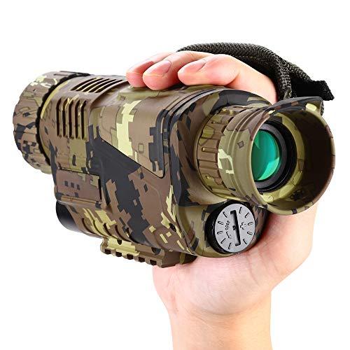 BOBLOV Monoculaire Vision Nocturne Infrarouge Numérique 5x8 Optique avec Carte de 16 GB pour Chasse Observer