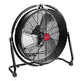 OEM TOOLS 20 Inch High-Velocity Indoor Orbital Floor, New Model Commercial Fan, Black