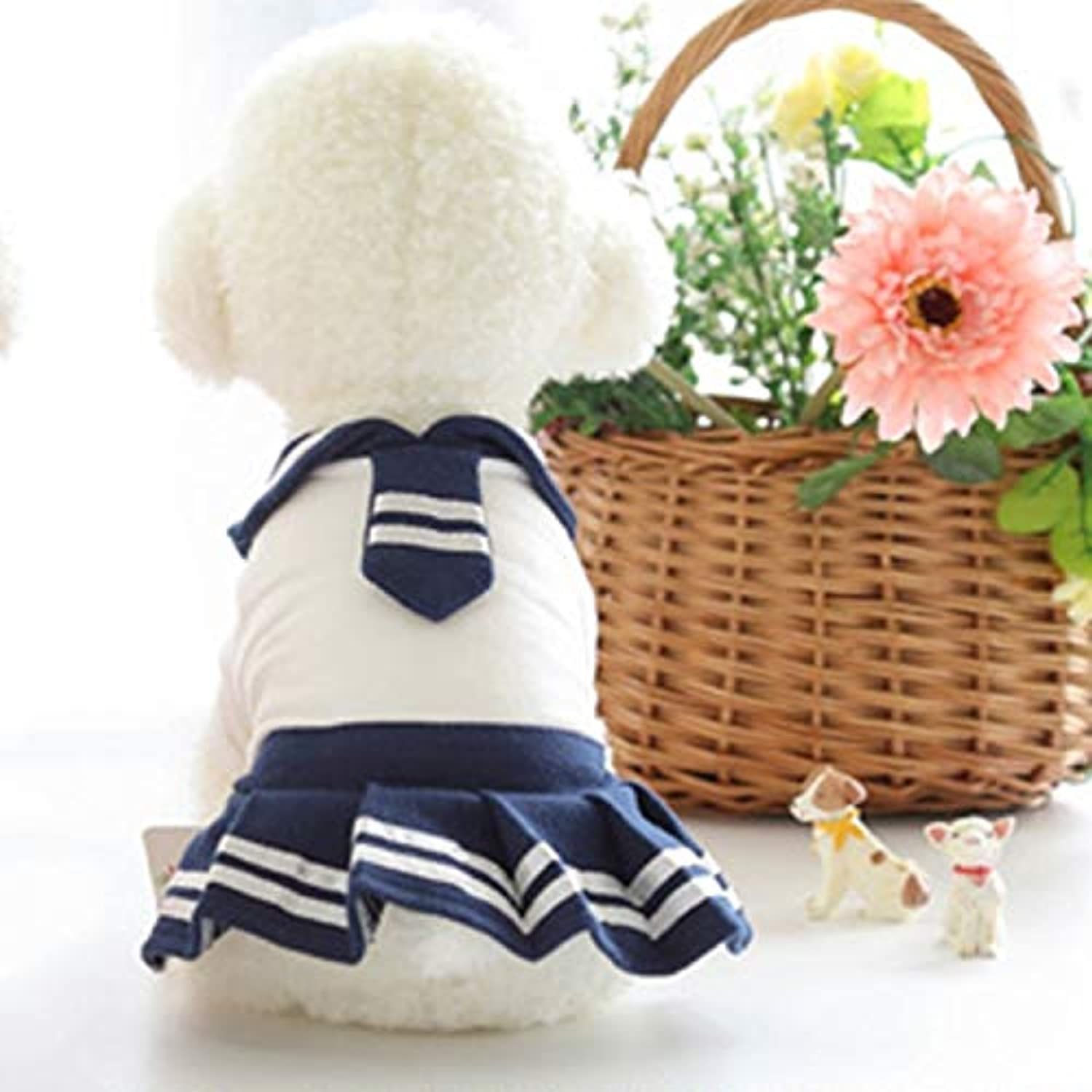 Pet Supplies Little Scarves School Skirt Pet Dog Casual Skirt, Size  L, Back Length  29cm, Chest  40cm, Random color and Style Delivery (Size   Hc3518d)