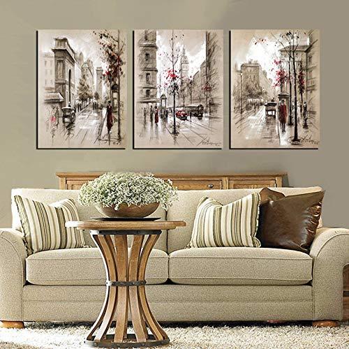 Home Decor Leinwand Malerei Kunst Bild auf Urban Street Wall Leinwand Druckgrafik Wohnzimmer ohne Rahmen 30X40cm3pcs