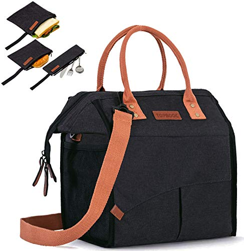 Insulated Lunch Bag for Women/Men - Reusable Lunch Box for Office Work Picnic Beach - Leakproof...