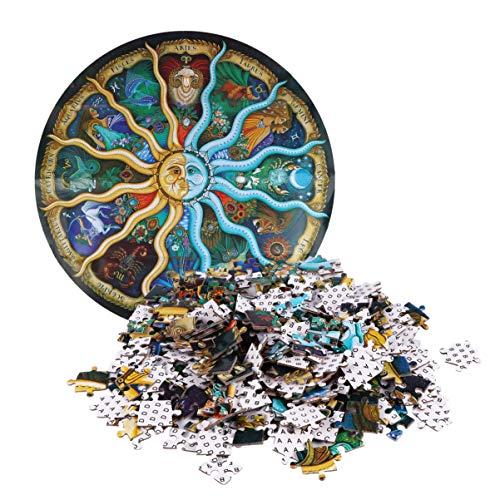 NUOBESTY - Lote de 500 puzles redondos para niños y adultos