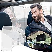 Icejoy 車内の沫ブロッカー 2枚セット 仕切り板 アクリル パーテーション 受付カウンター 3mm厚 3段調節 取り付けマジックテープロープ付き 飛沫防止 衛生管理 透明アクリル板 間仕切り 仕切り 仕切り板 感染予防 乗用車 車用 タクシー 観光バス\