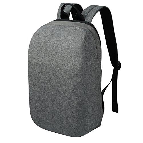 REYLEO Zaino Casual Impermeabile Antifurto Uomo e Donna Backpack Laptop Zainetto per Computer per la scuola e l'ufficio da 16 L ( Grigio )